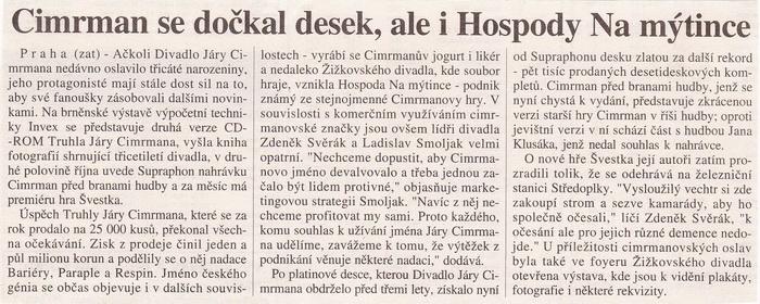 Mladá fronta Dnes, 14.10.1997